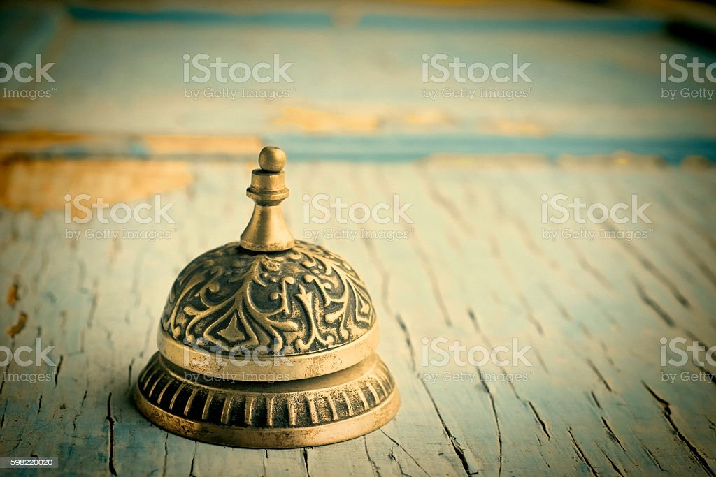 Old customer service bell stock photo