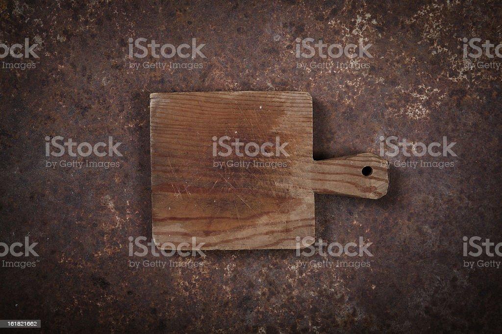 Old cuttin board stock photo