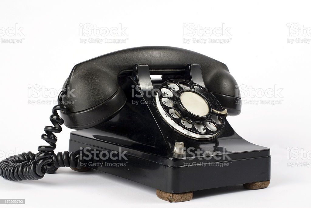Old dailer phone three quarter view royalty-free stock photo
