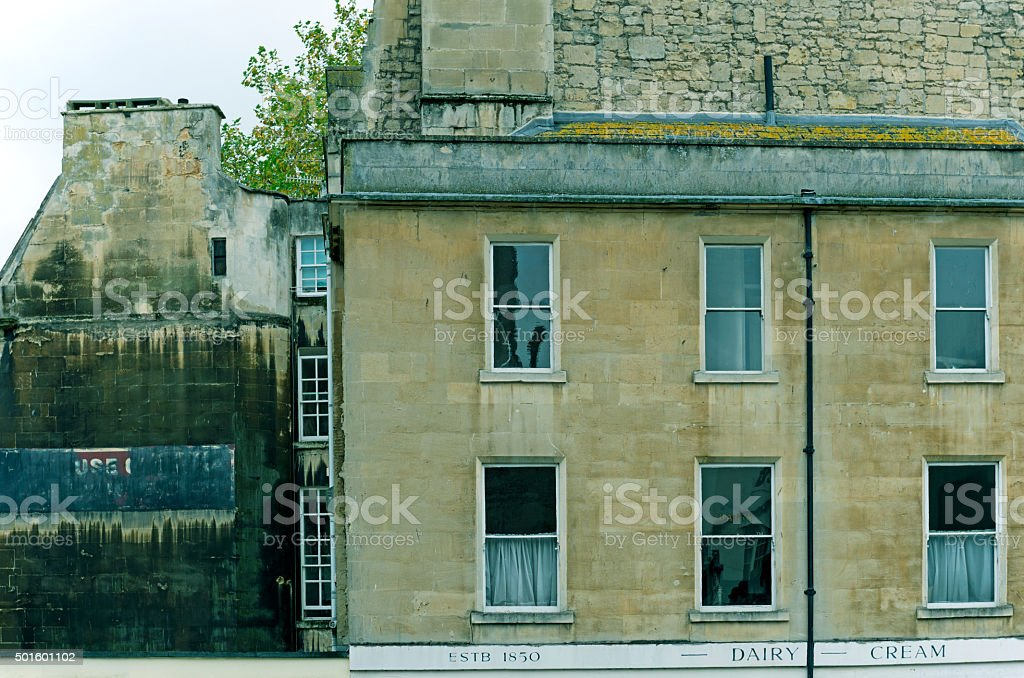 Old dairy building in Bath England stock photo
