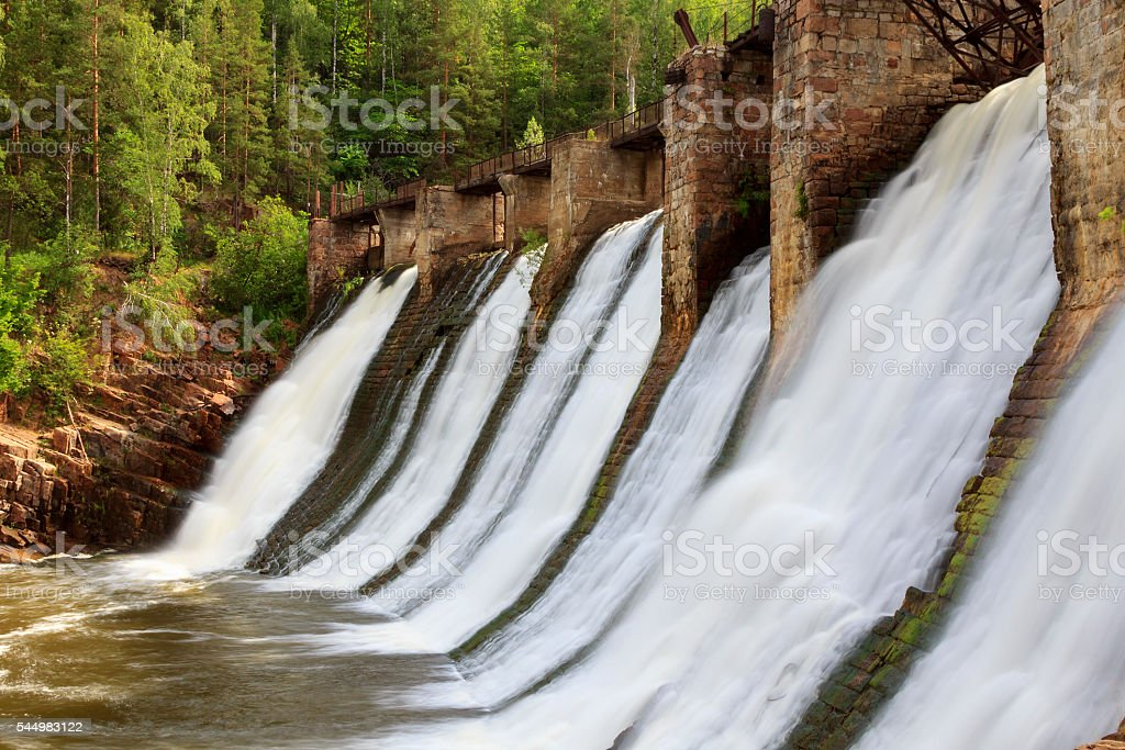 Old dam stock photo