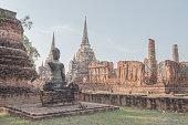 Old damage Buddhist at Wat Phra Sri Sanphet.