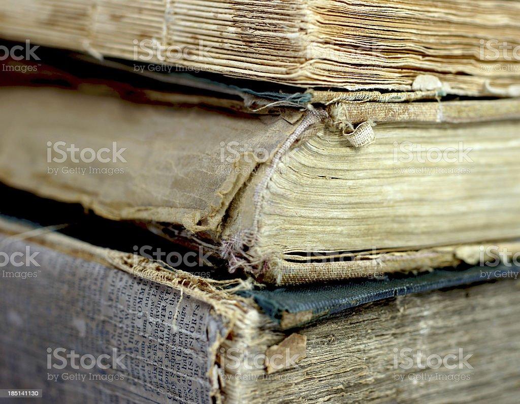 Old damaged books royalty-free stock photo