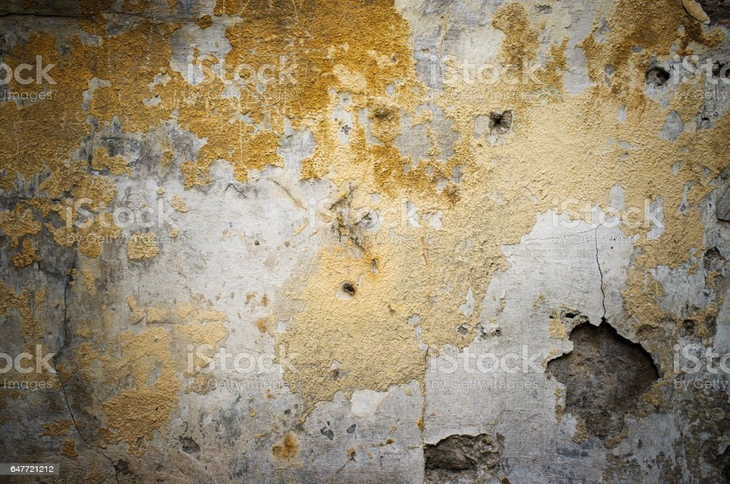 Old damaged grunge wall background stock photo
