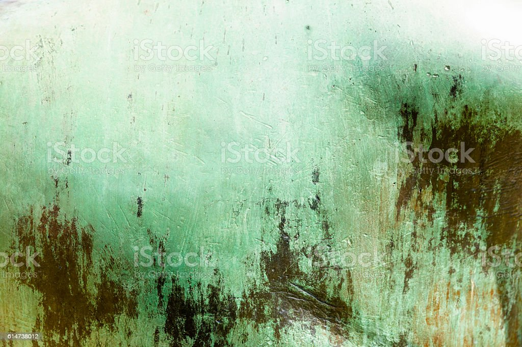 Old damaged metal plate, abstract background with copy space stock photo