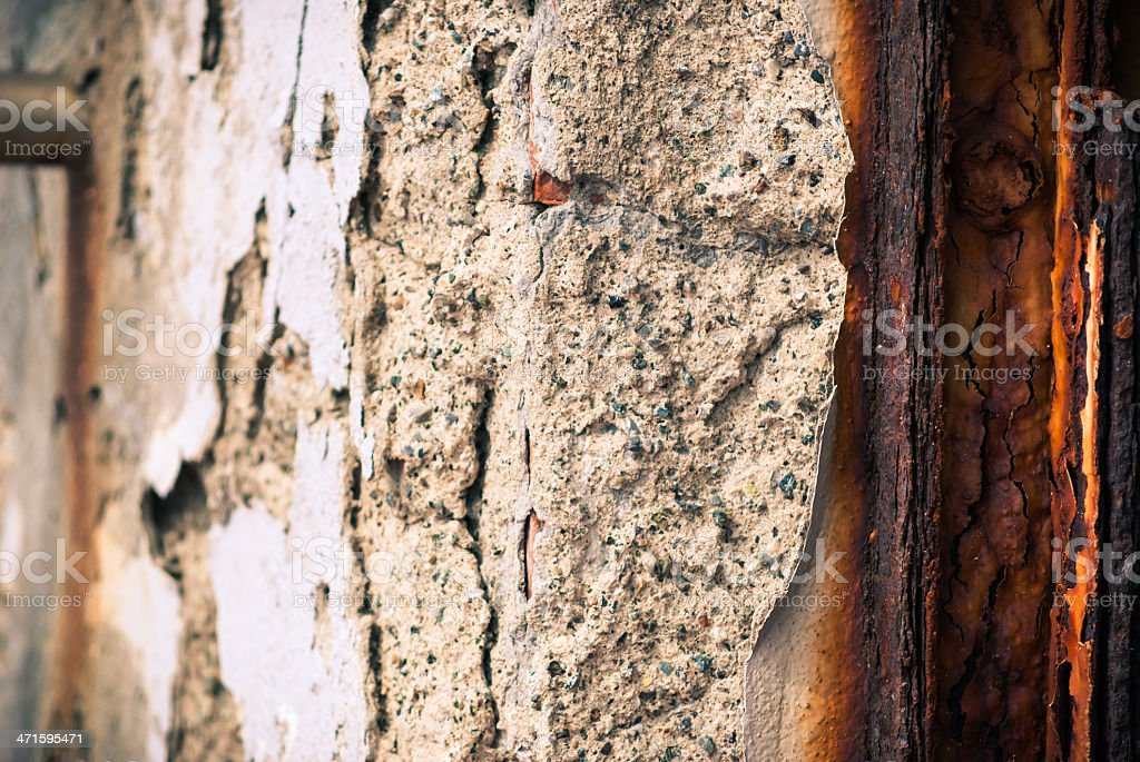 Old damaged wall background royalty-free stock photo