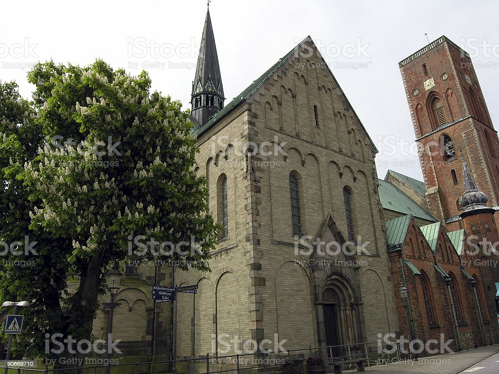 Old Danish Cathedral stock photo