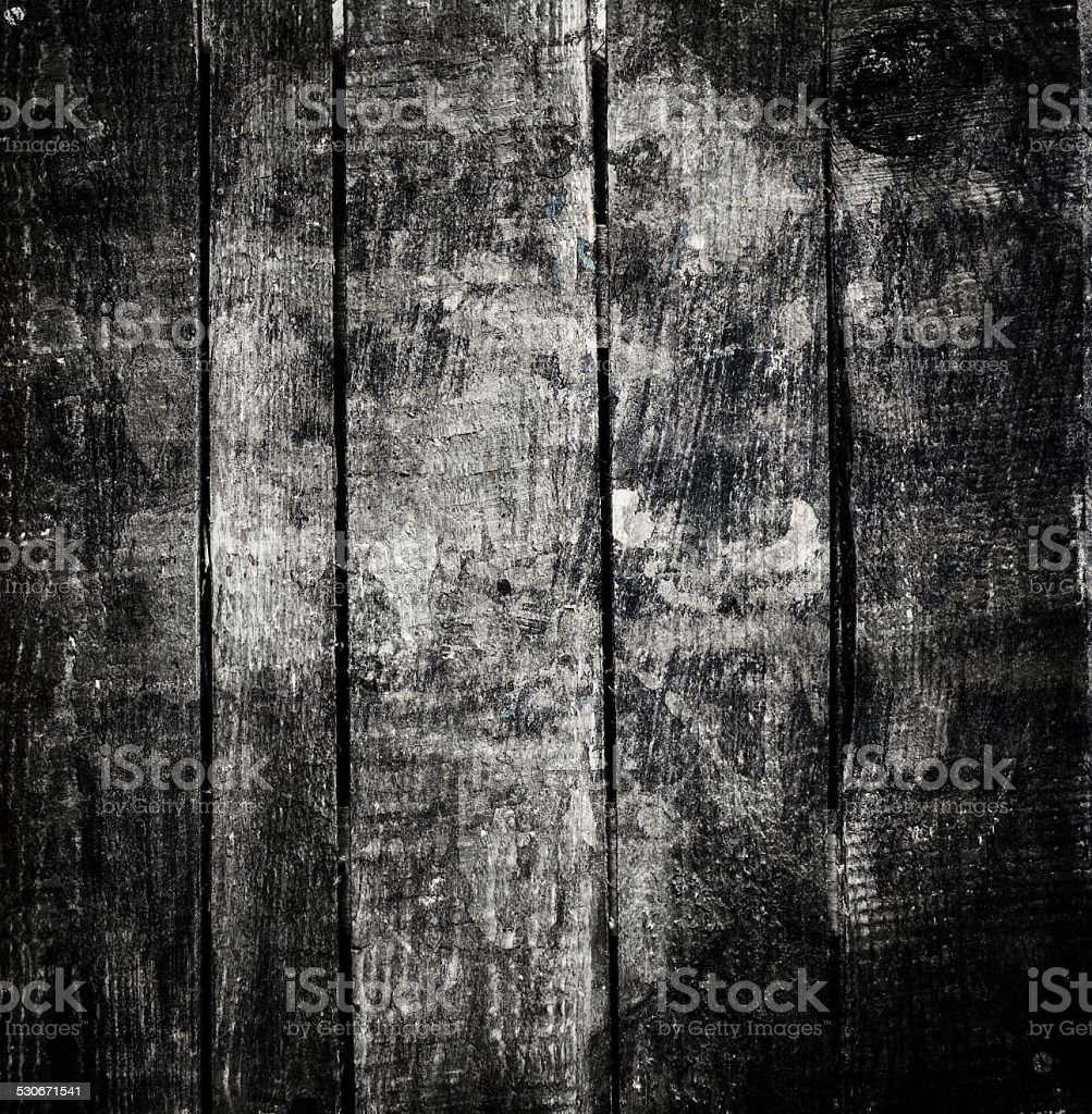 Old  dark  grunge wood background with knots and scratches. stock photo