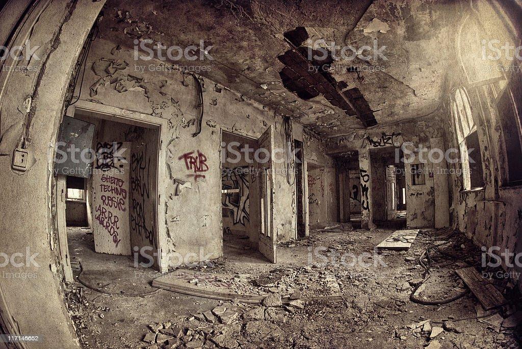 Old dark ruin royalty-free stock photo