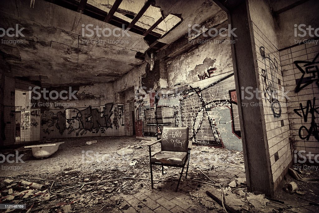 Old dark ruin royalty-free stock photo