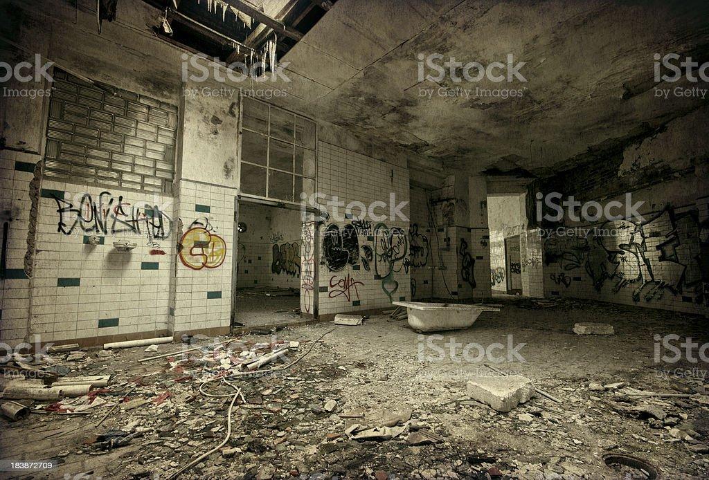 Old dark ruin room royalty-free stock photo
