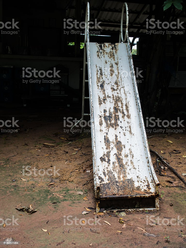 Old Decay Iron Slider stock photo