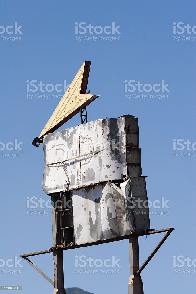 Old decaying sign royalty-free stock photo