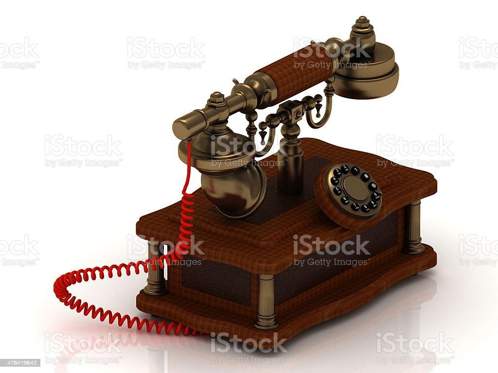 Old decorative telephone stock photo