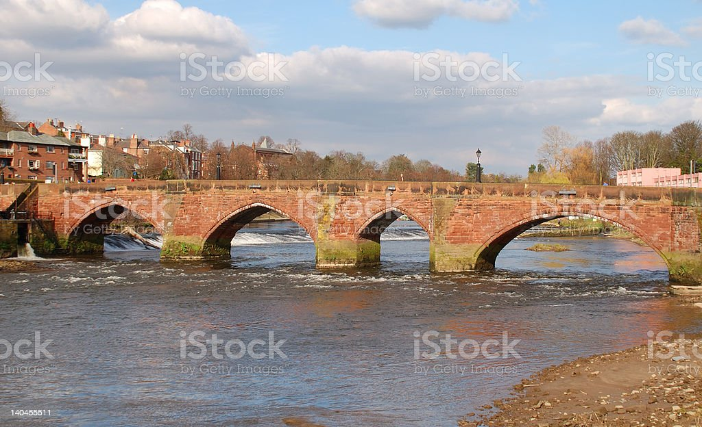 Old Dee Bridge 2 royalty-free stock photo