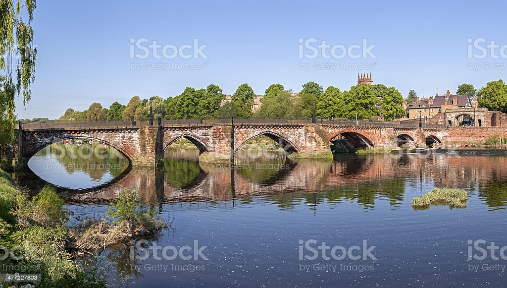 Old Dee bridge, Chester, Cheshire royalty-free stock photo