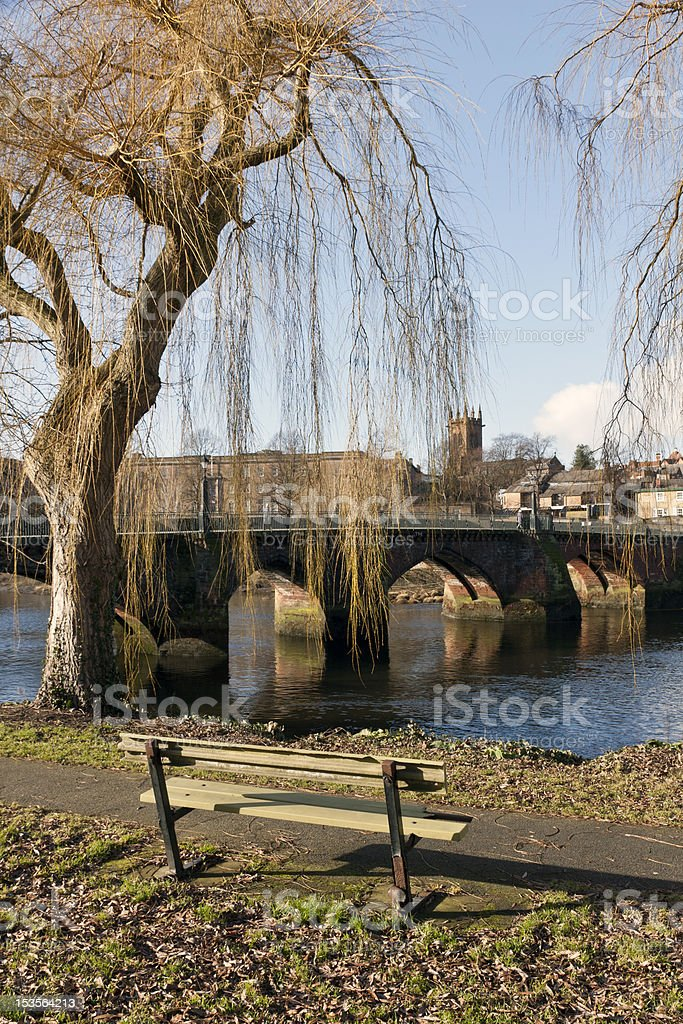Old Dee Bridge, Chester royalty-free stock photo