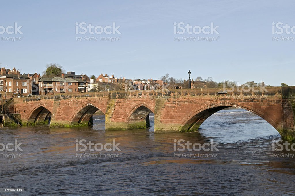 Old Dee Bridge - Chester royalty-free stock photo