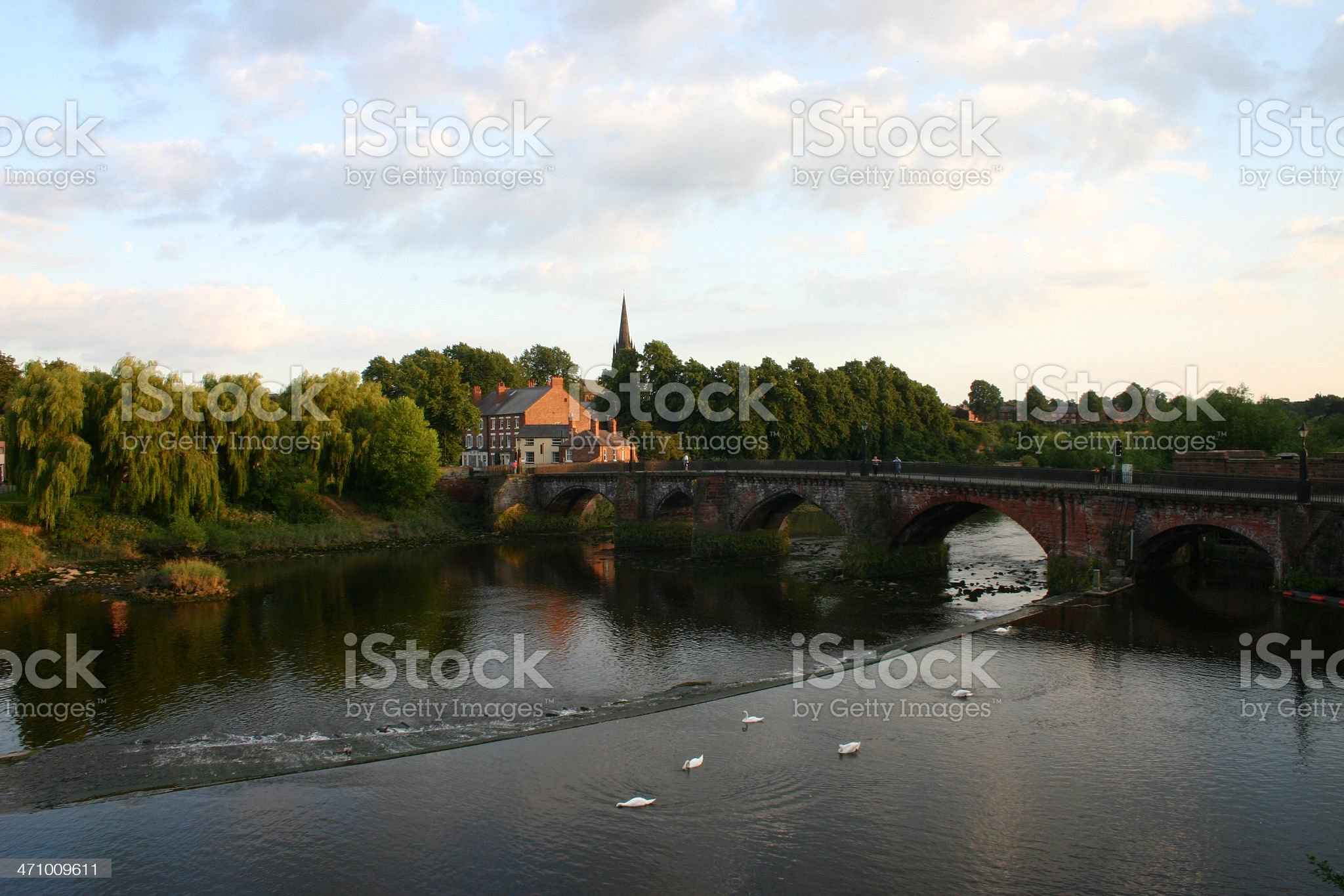 old dee bridge chester royalty-free stock photo