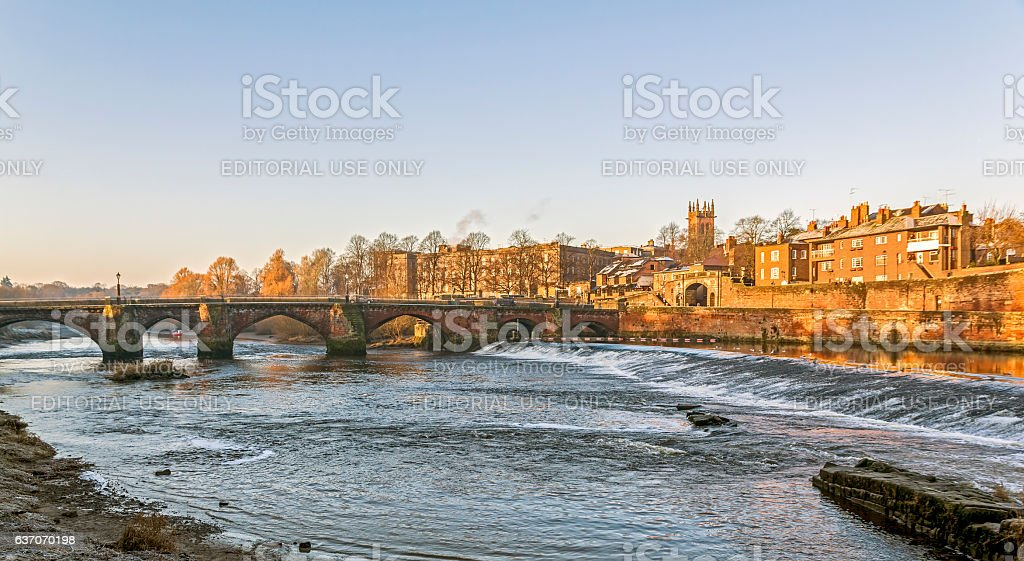 Old Dee Bridge Chester stock photo