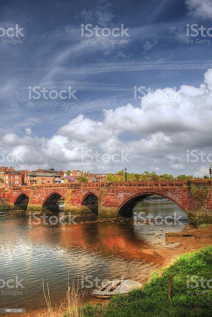Old Dee Bridge Chester - UK royalty-free stock photo
