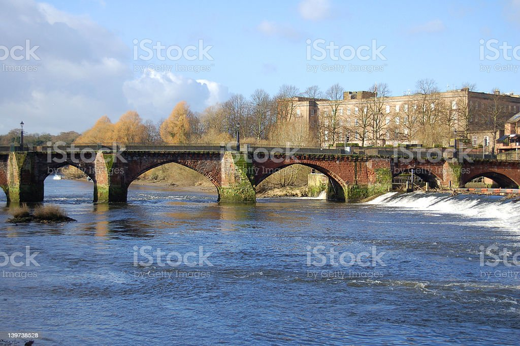 Old Dee Bridge royalty-free stock photo
