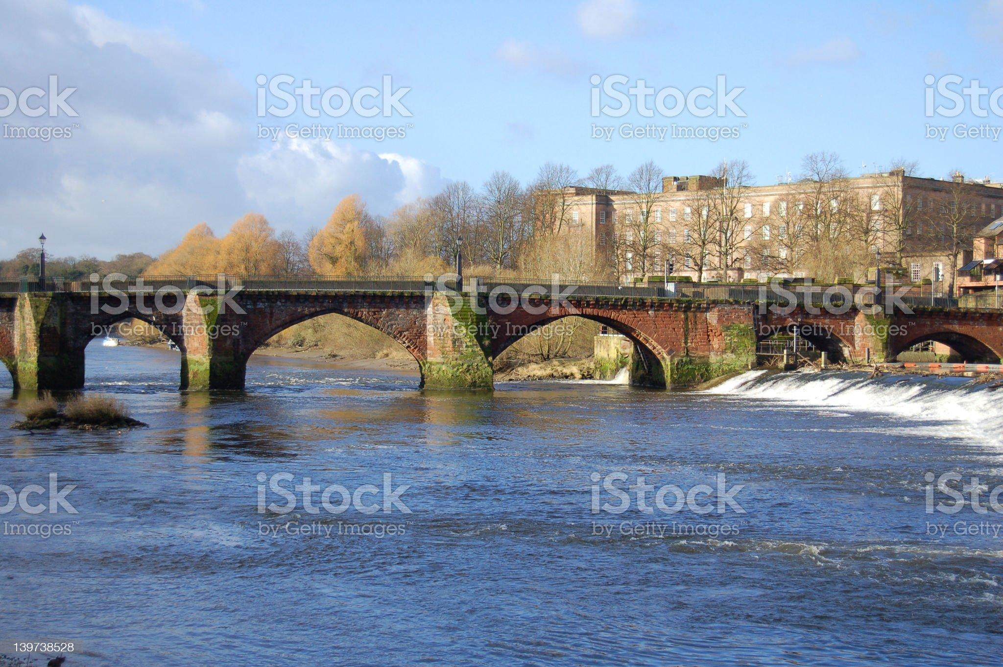 Old Dee Bridge royalty-free stock photo