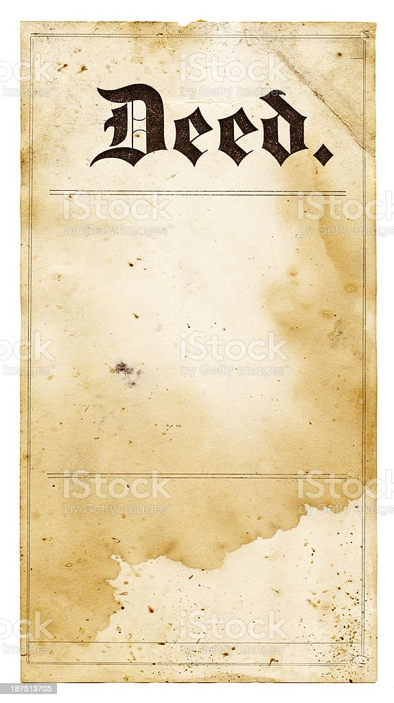 old deed stock photo