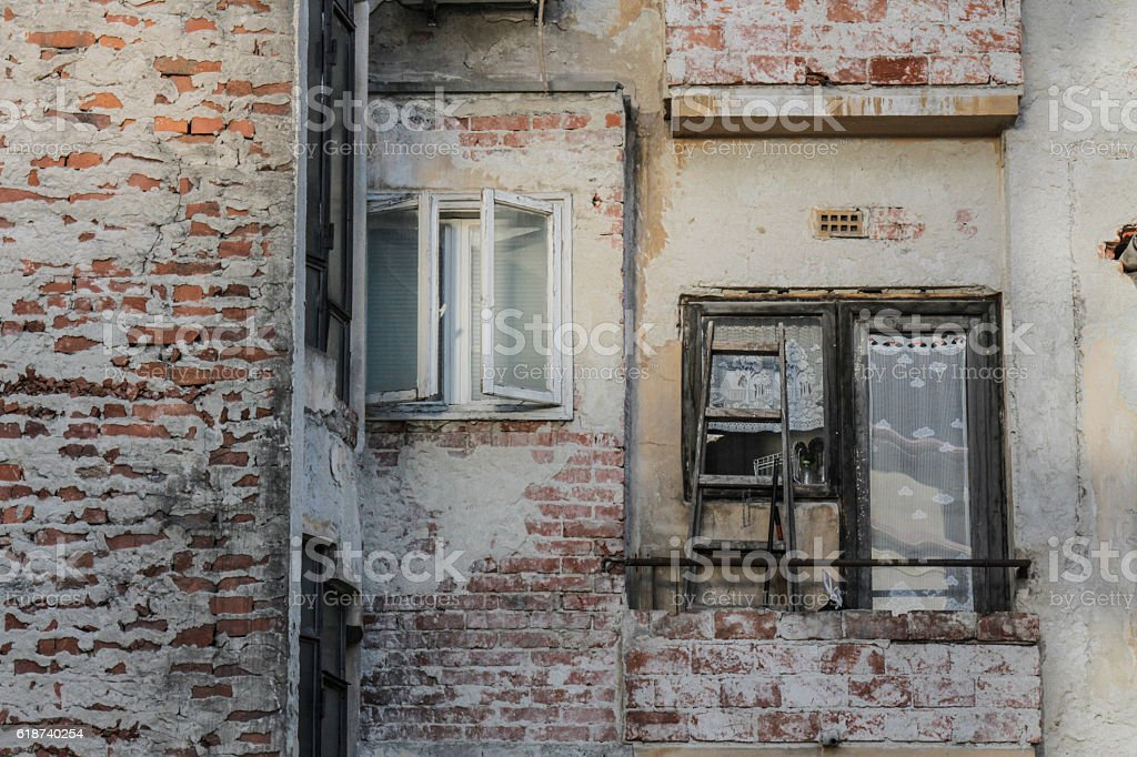 Old, degraded building stock photo