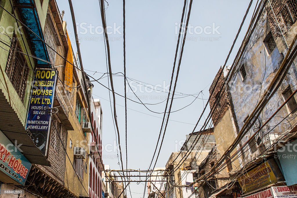 Old Delhi architecture stock photo