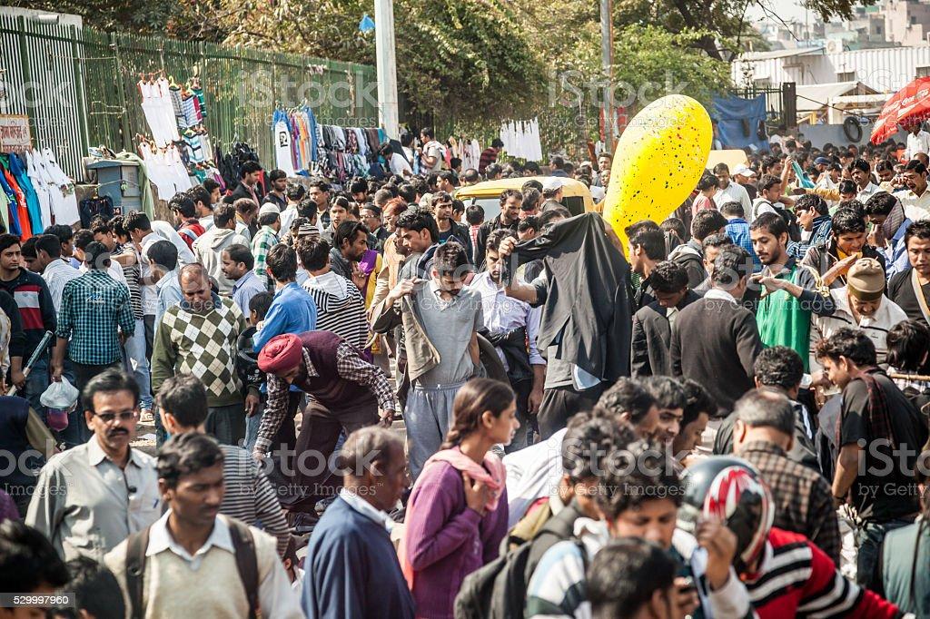 Old Delhi market stock photo