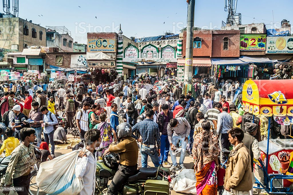 Old Delhi stock photo