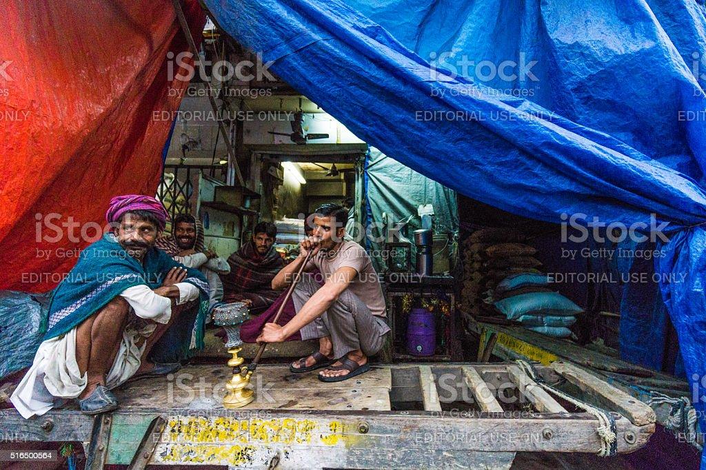Old Delhi scene stock photo