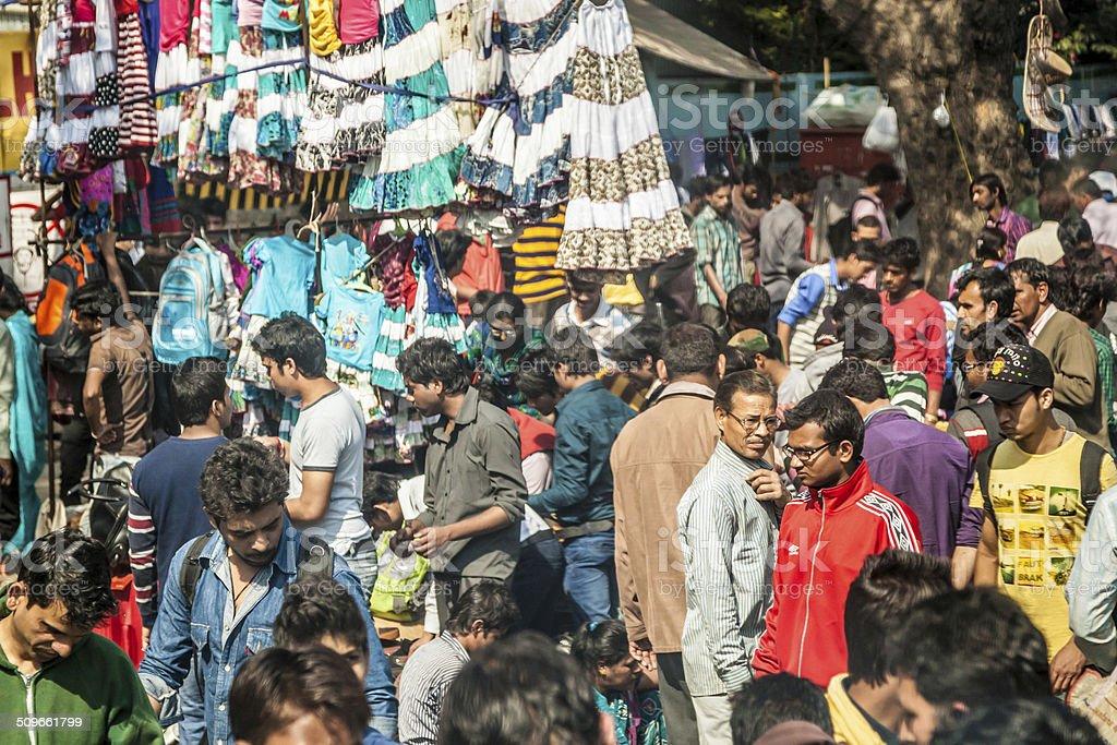 Old Delhi street scene stock photo