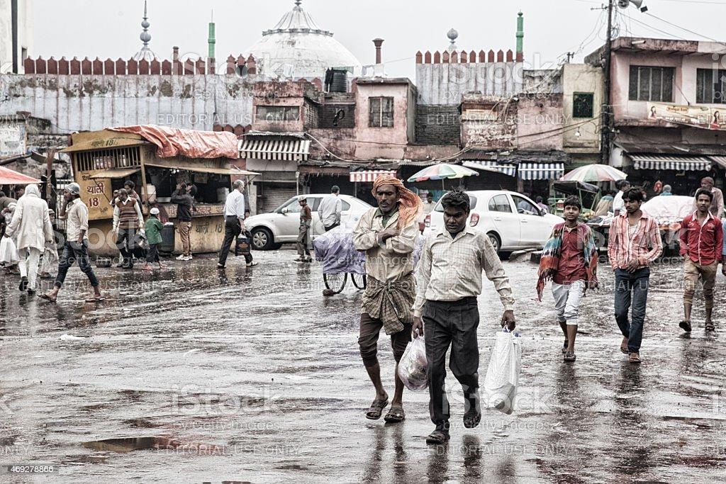 Old Delhi. Streetlife. stock photo