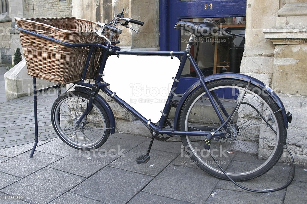 Old delivery bike stock photo
