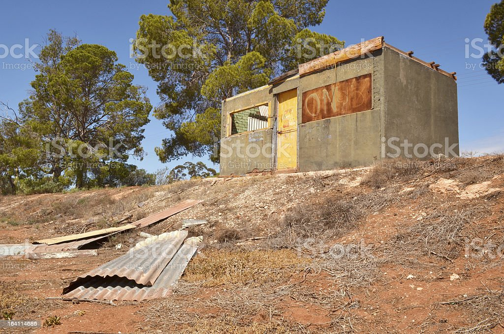 Old Derelict Buiding in Australia royalty-free stock photo
