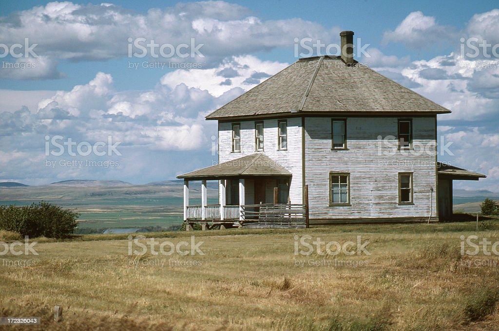Old Derelict Farmhouse stock photo