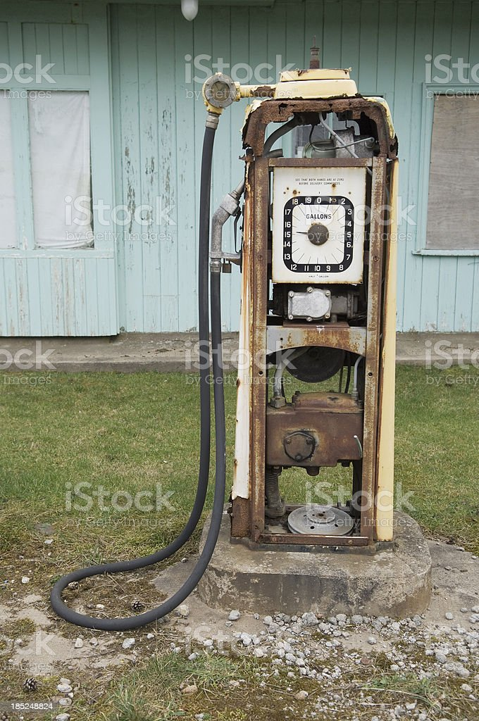 Old derelict petrol pump royalty-free stock photo