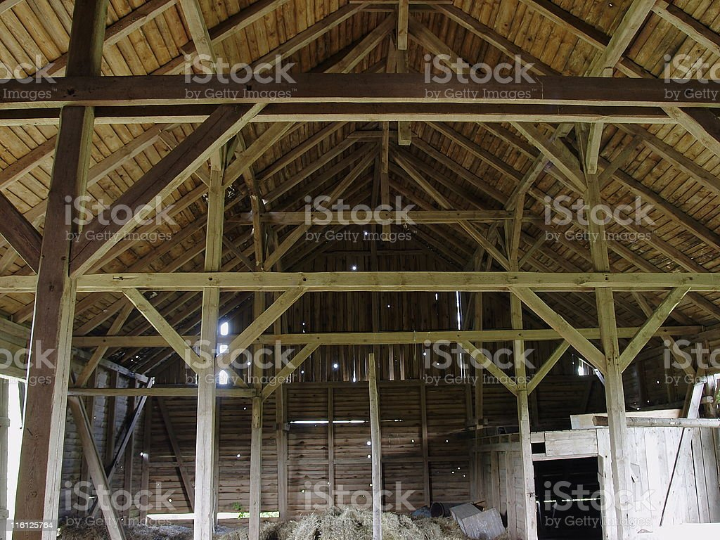 Old deserted barn royalty-free stock photo