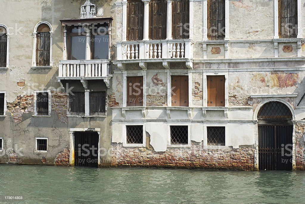 Old deserted house in Venice royalty-free stock photo