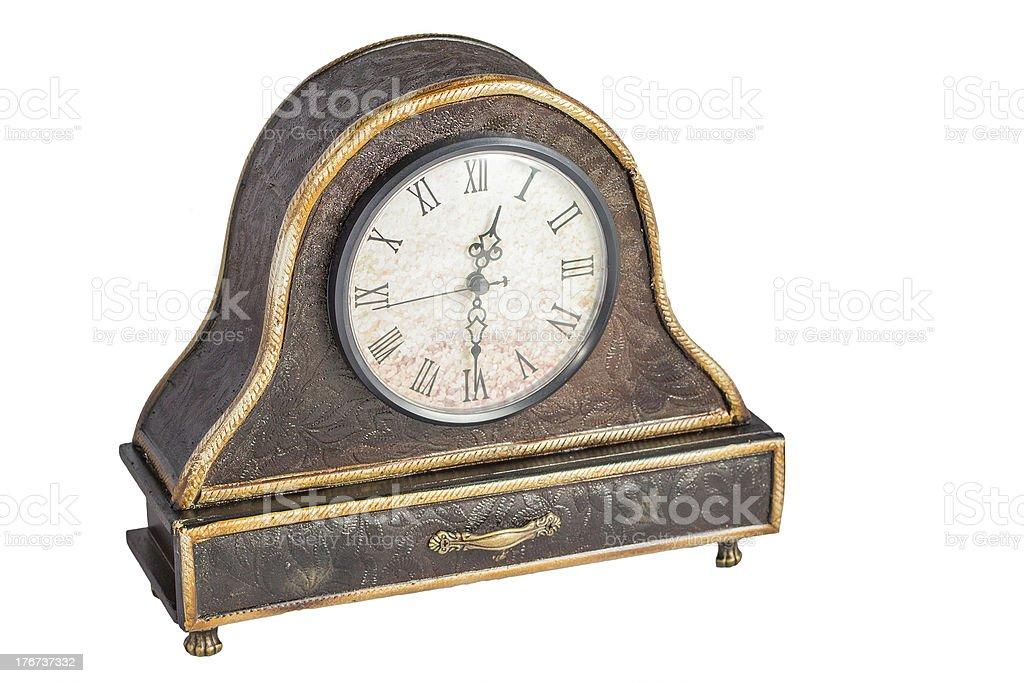 Old Desk Clock royalty-free stock photo