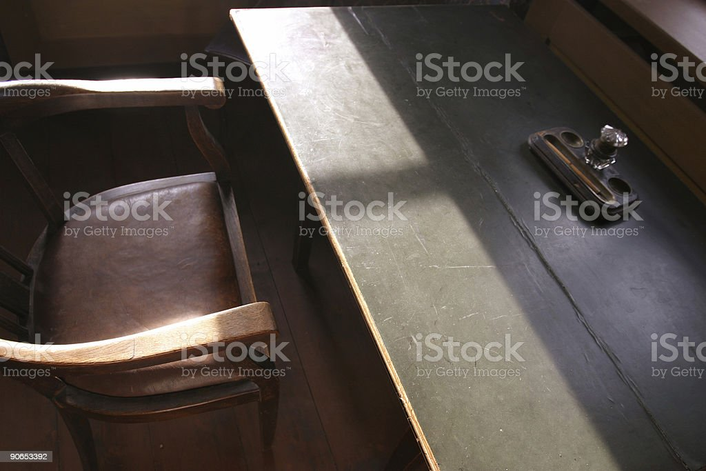 Old desk royalty-free stock photo