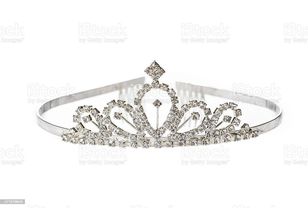 Old Diadem on White Background stock photo