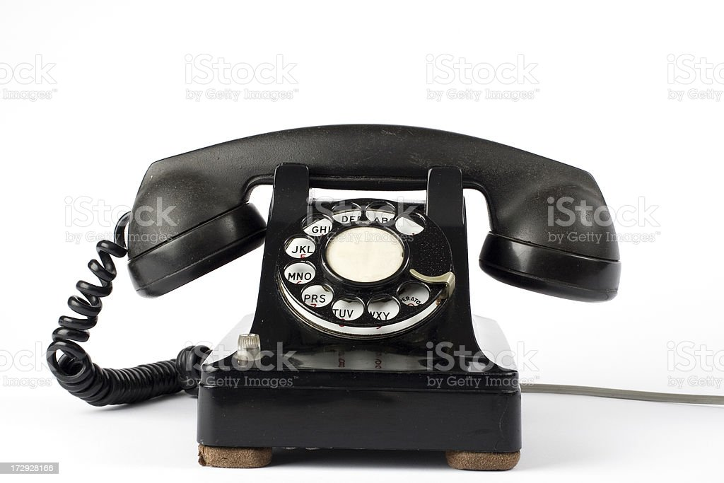 Old dialer phone royalty-free stock photo