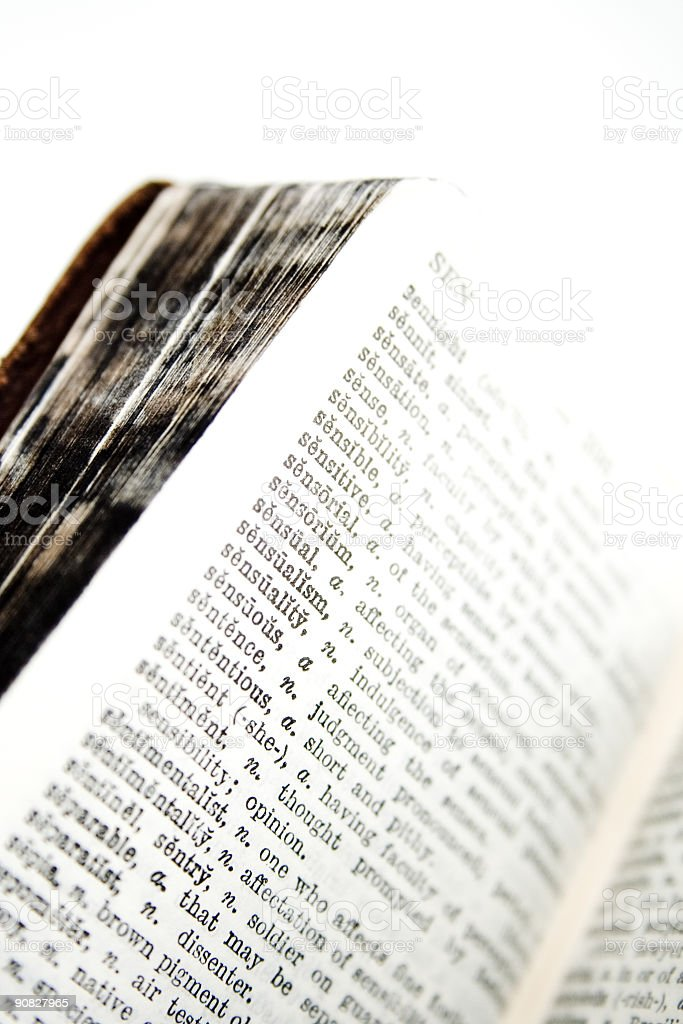 Old Dictionary Series stock photo