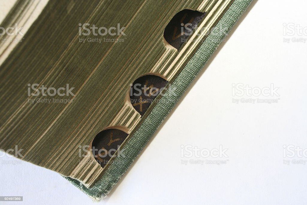 old dictionary tabs royalty-free stock photo