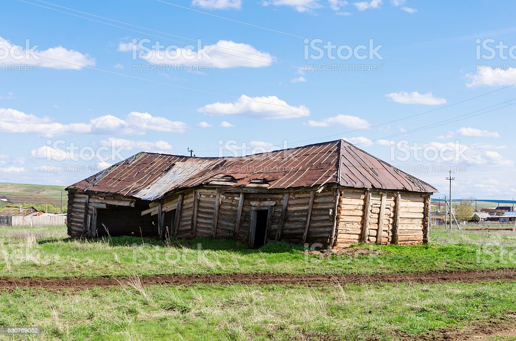 Old dilapidated barn stock photo