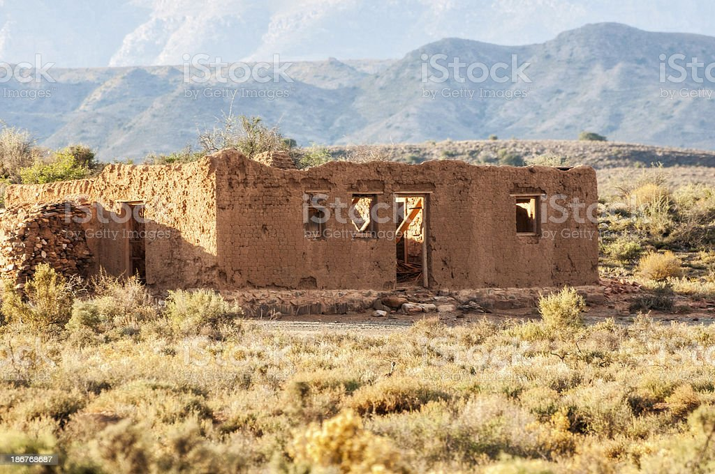 Old Dilapidated Farm House in South African royalty-free stock photo