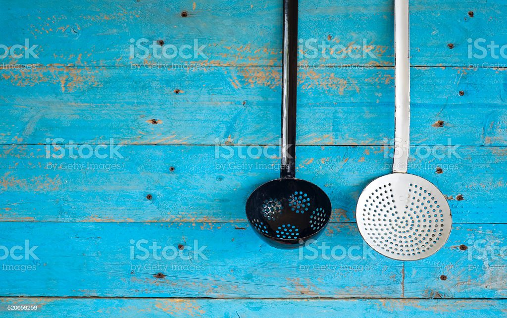 old dippers, cooking concept free copy space stock photo